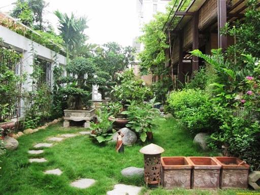 trồng cây xanh xung quanh ngôi nhà